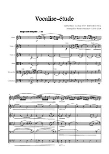 Vocalise-étude: For oboe and string orchestra - score by Gabriel Fauré