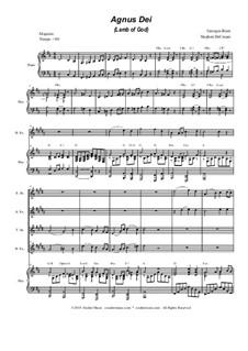 Agnus Dei: For saxophone quartet by Georges Bizet
