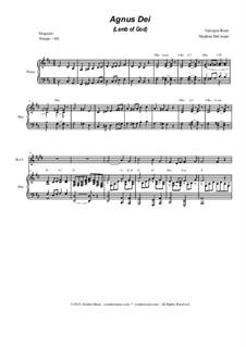 Agnus Dei: For woodwind quartet by Georges Bizet