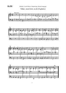 Näher, mein Gott, zu dir (Fughette): Näher, mein Gott, zu dir (Fughette) by Roman Jungegger