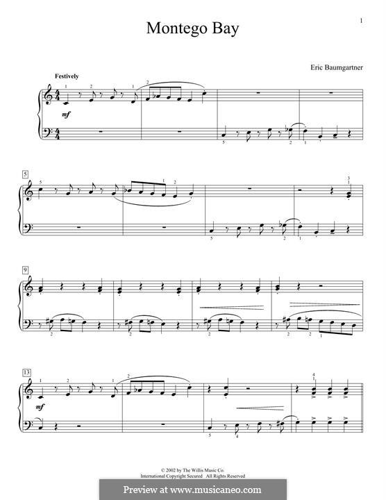 Montego Bay: Für Klavier by Eric Baumgartner
