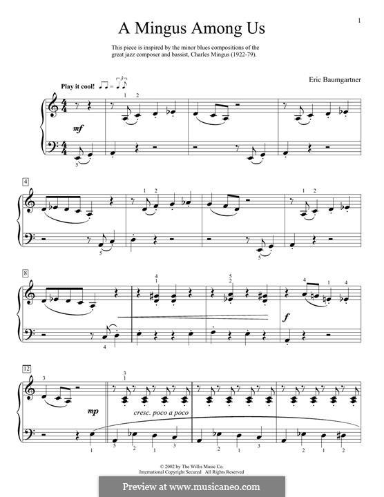 A Mingus Among Us: Für Klavier by Eric Baumgartner