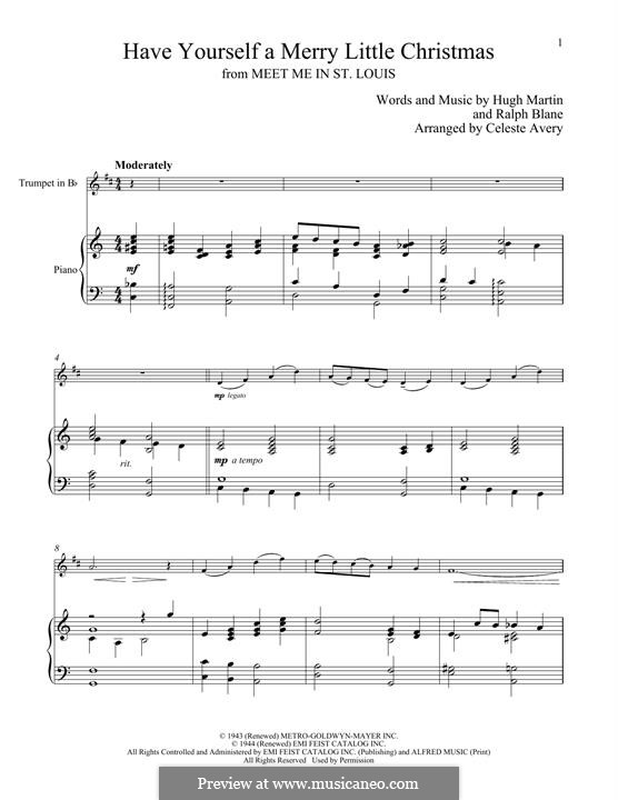 Have Yourself a Merry Little Christmas: For trumpet and piano by Hugh Martin, Ralph Blane