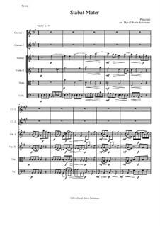 Stabat Mater: For 2 clarinets and string quartet by Giovanni Battista Pergolesi