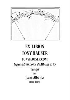 Nr.2 Tango: Für Gitarre, T.95 by Isaac Albéniz