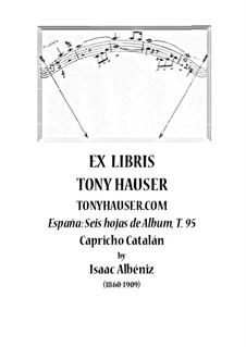 Nr.5 Capricho Catalán: Für Gitarre, T.95 by Isaac Albéniz