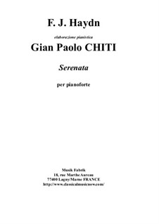 Streichquartett in F-Dur, Hob.III/17 Op.3 No.5: Movement II, for solo piano by Gian Paolo Chiti by Joseph Haydn