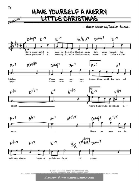 Have Yourself a Merry Little Christmas: Für Gitarre by Hugh Martin, Ralph Blane
