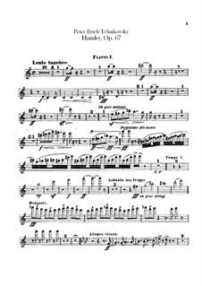 Hamlet. Ouvertüre-Fantasie, TH 53 Op.67: Flötenstimmen by Pjotr Tschaikowski