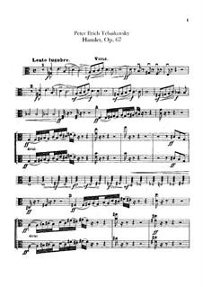 Hamlet. Ouvertüre-Fantasie, TH 53 Op.67: Violastimme by Pjotr Tschaikowski