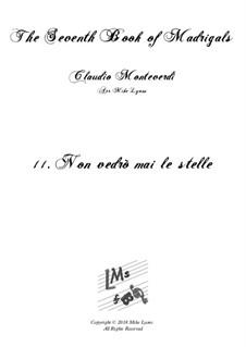 Book 7 (Concerto), SV 117–145: No.11 Non vedrò mai le stelle by Claudio Monteverdi