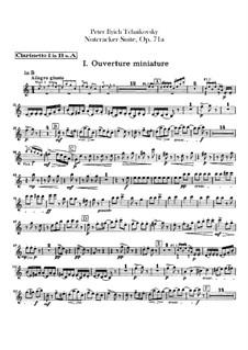 Vollständiger Teile: Klarinettenstimmen by Pjotr Tschaikowski