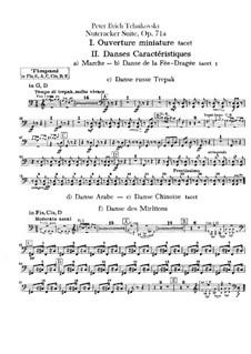 Vollständiger Teile: Schlagzeugstimmen by Pjotr Tschaikowski