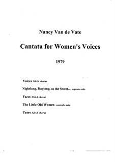 Voices of Women: Score (Version A) by Nancy Van de Vate