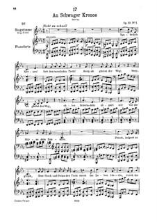 An Schwager Kronos, D.369 Op.19 No.1: Für tiefe Stimme und Klavier by Franz Schubert