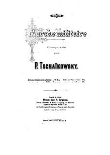 Militärmarsch, TH 150: Für Militärkapelle by Pjotr Tschaikowski