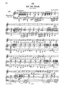 Auf der Bruck, D.853 Op.93 No.2: Für tiefe Stimme und Klavier by Franz Schubert