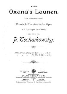 Die Pantöffelchen, TH 8: Lied des Wakula und Ouvertüre by Pjotr Tschaikowski