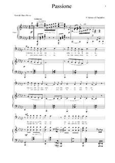 Passione: For bass and piano by Ernesto Tagliaferri, Antonio Valente