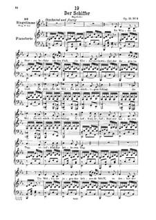 Der Schiffer, D.536 Op.21 No.2: Für tiefe Stimme und Klavier by Franz Schubert