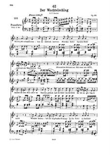 Der Wachtelschlag, D.742 Op.68: Für tiefe Stimme und Klavier by Franz Schubert