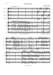 Sweet and Low (Stanford's setting): For clarinet quartet and string quartet by Charles Villiers Stanford