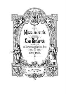 Missa Solemnis, Op.123: Klavierauszug mit Singstimmen by Ludwig van Beethoven