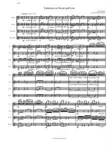 Sweet and Low: Variations, for flute quartet by Joseph Barnby
