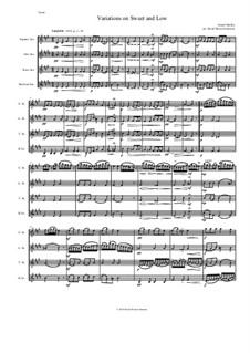Sweet and Low: Variations, for saxophone quartet by Joseph Barnby