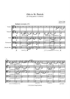 Ode to St Patrick (for string quintet or orchestra): Ode to St Patrick (for string quintet or orchestra) by Jordan Grigg