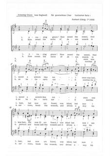 Erstaunliche Gnade: Für gem. Chor, Op.12.7 by folklore