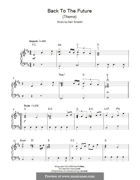 Back to the Future (Theme): Für Klavier by Alan Silvestri