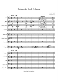 Prologue for Small Orchestra: Prologue for Small Orchestra by Jordan Grigg