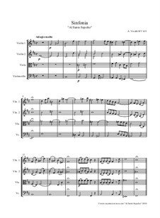 Sinfonia in h-Moll 'Al Santo Sepolcro', RV 169: Sinfonia in h-Moll 'Al Santo Sepolcro' by Antonio Vivaldi