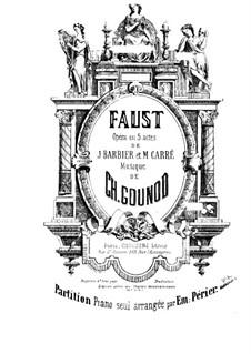 Faust: Bearbeitung für Klavier by Charles Gounod