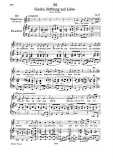Glaube, Hoffnung und Liebe, D.955 Op.97: Für tiefe Stimme und Klavier by Franz Schubert