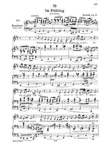 In Spring, D.882 Op.101 No.1: Für tiefe Stimme und Klavier by Franz Schubert