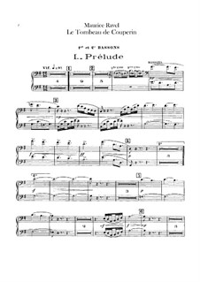 Le tombeau de Couperin for Orchestra, M.68a: Fagottenstimme by Maurice Ravel