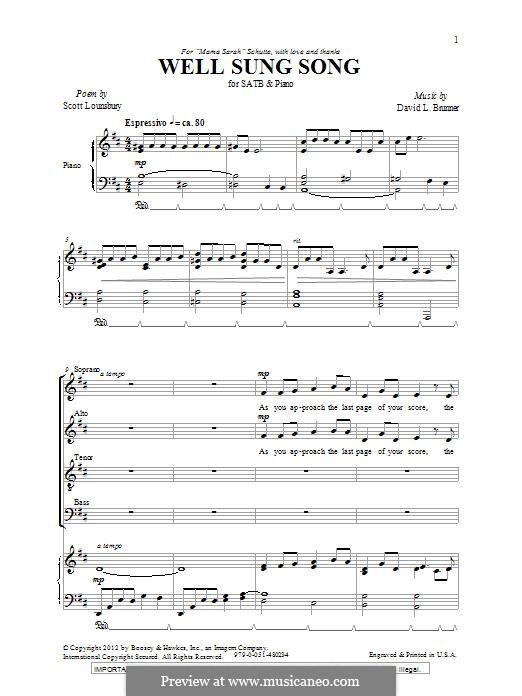 Well Sung Song: Für gemischten Chor by David L. Brunner