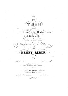 Klaviertrio Nr.1 in A-Dur, Op.8: Vollpartitur by Napoléon Henri Reber