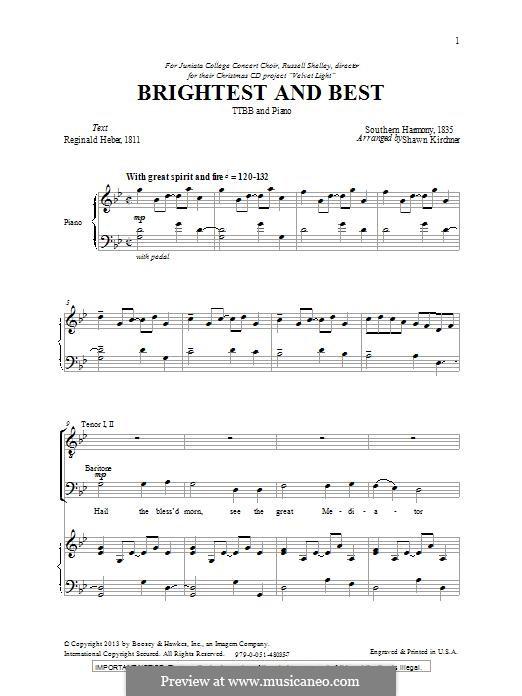 Brightest and Best: Für Männerchor by folklore