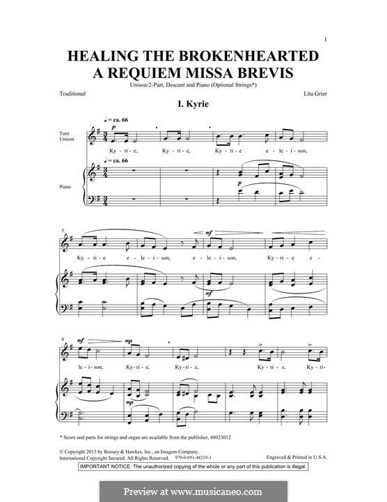 Healing the Brokenhearted (A Requiem Missa Brevis): SSA by Lita Grier