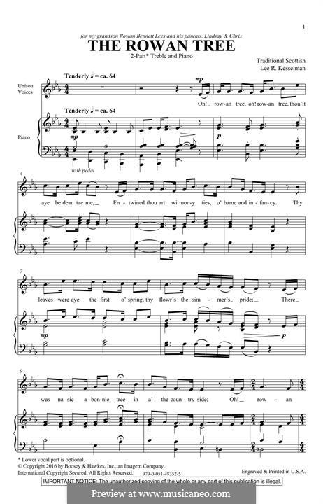 The Rowan Tree: Für Stimmen und Klavier by folklore
