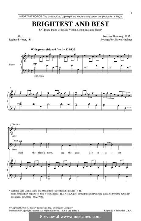 Brightest and Best: Für gemischten Chor by folklore