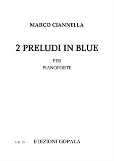 2 Preludi in blue: 2 Preludi in blue by Marco Ciannella