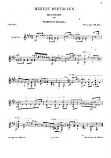 Menuett in E-Dur: Für Gitarre by Ludwig van Beethoven