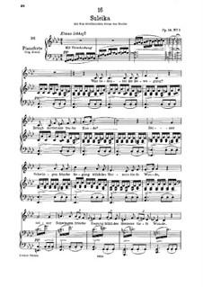 Suleika I, D.720 Op.14 No.1: Für tiefe Stimme und Klavier by Franz Schubert