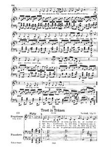Trost in Tränen, D.120: Für tiefe Stimme und Klavier by Franz Schubert