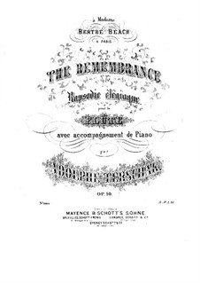 The Remembrance, Op.10: Solostimme by Adolf Terschak