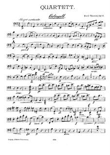 Quartett für Flöte und Streicher, Op.84: Cellostimme by Ferdinand Thieriot